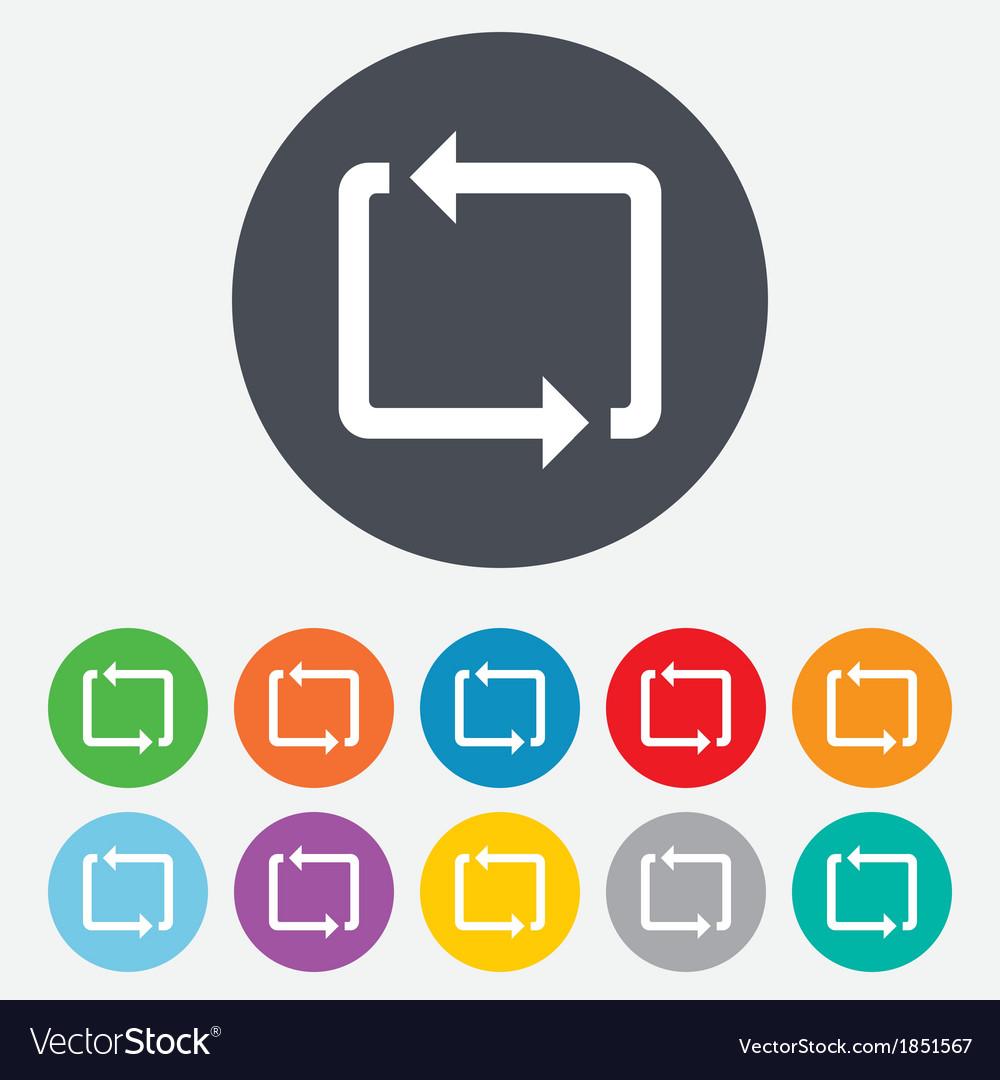 Repeat icon loop symbol refresh sign vector | Price: 1 Credit (USD $1)