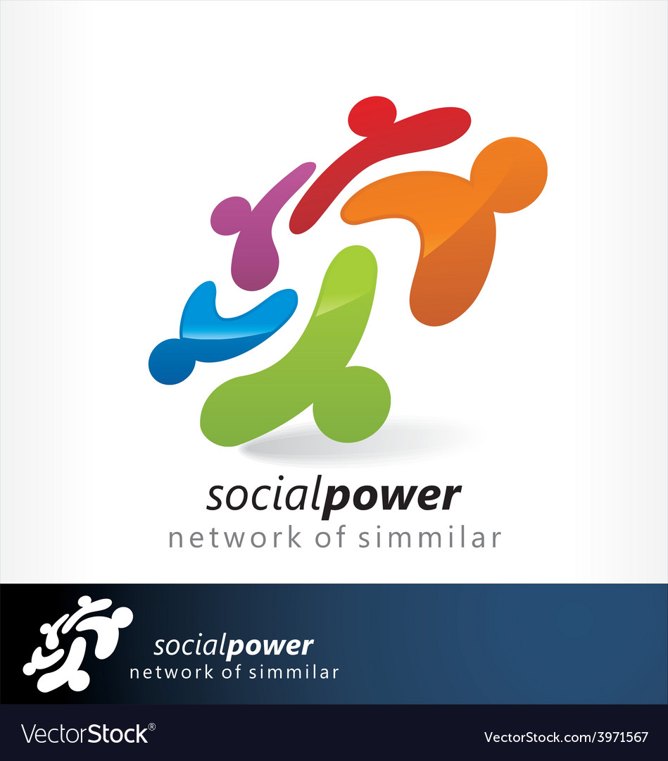 Social power 1 vector | Price: 1 Credit (USD $1)
