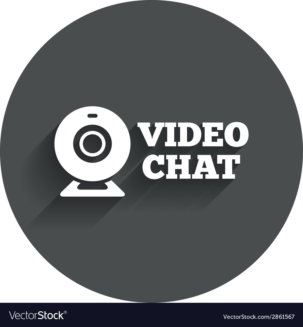 Video chat sign icon webcam video talk vector | Price: 1 Credit (USD $1)