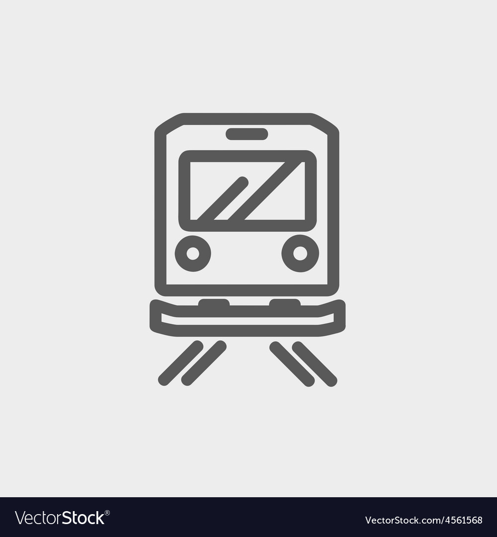Back view of the train thin line icon vector