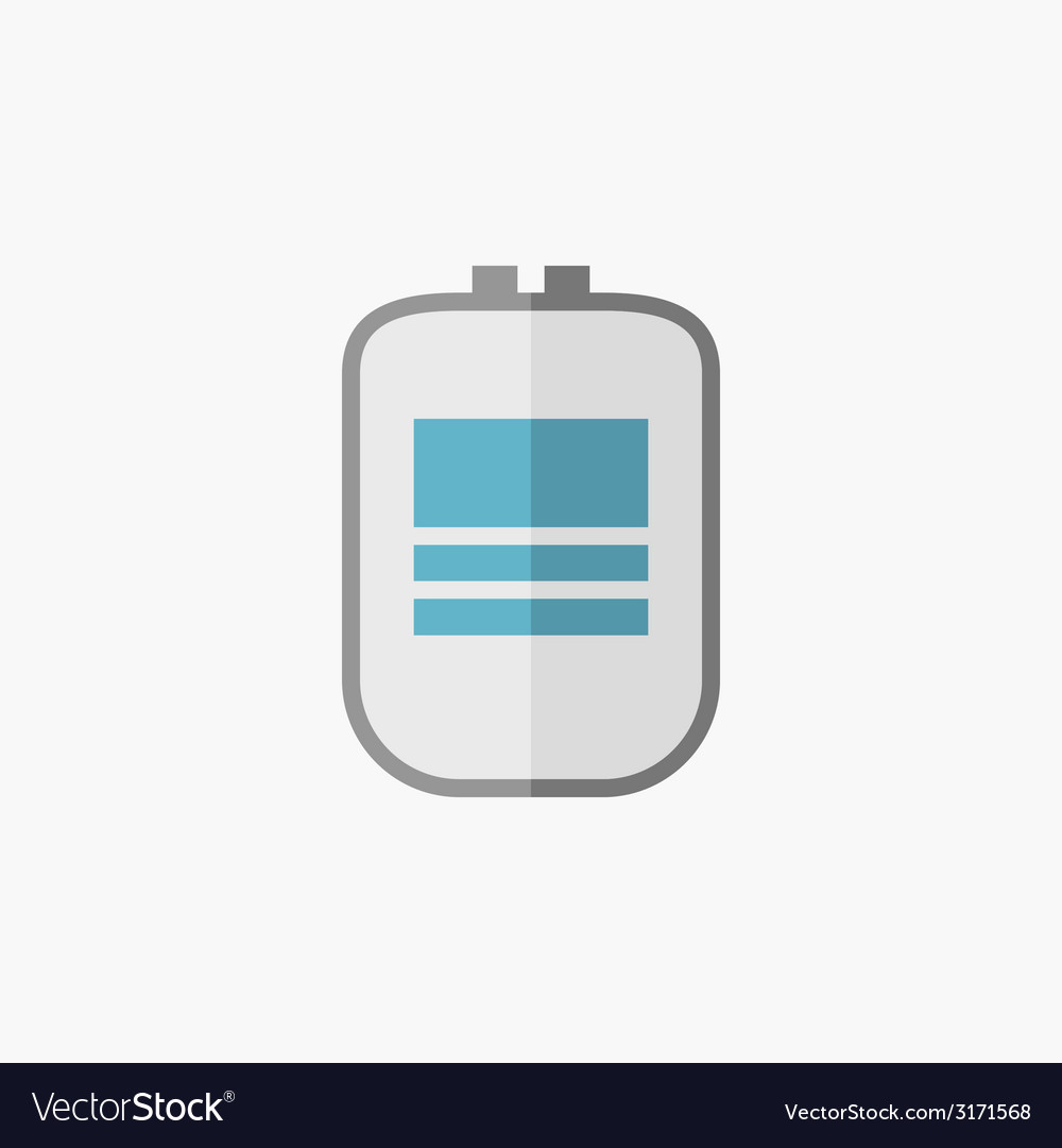 Blood bag medical flat icon vector | Price: 1 Credit (USD $1)