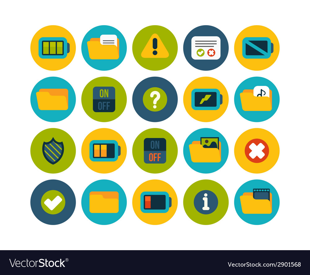 Flat icons set 10 vector | Price: 1 Credit (USD $1)