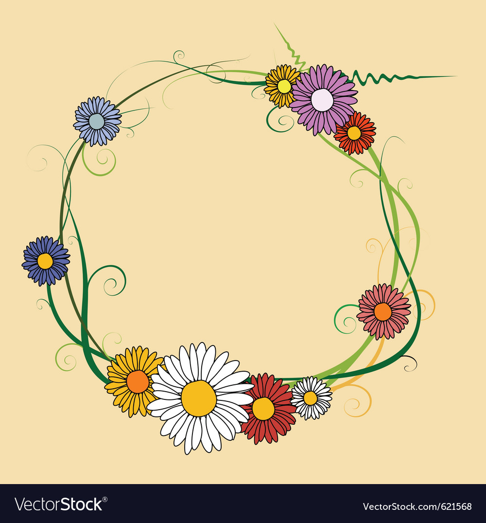Frame made of spring flowers vector   Price: 1 Credit (USD $1)