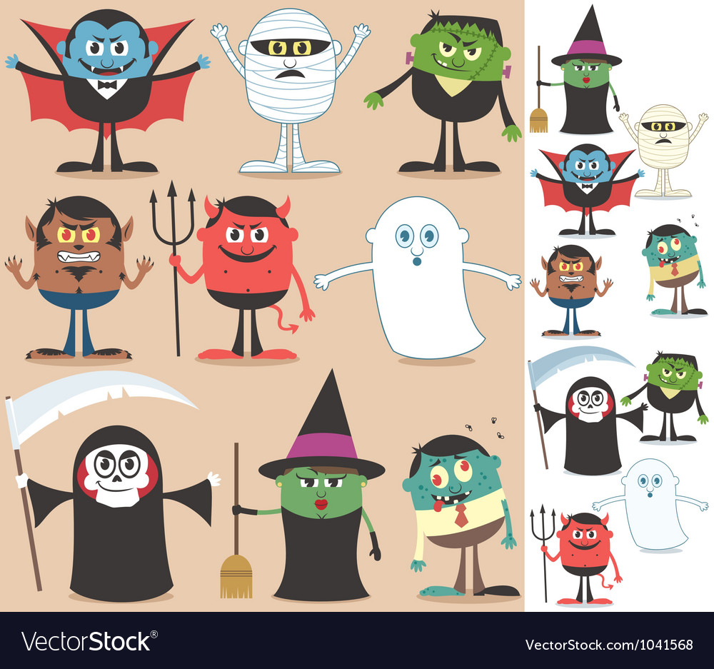 Halloween characters vector | Price: 3 Credit (USD $3)