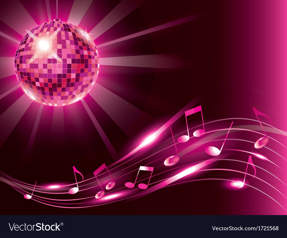 Music background disco ball vector | Price: 1 Credit (USD $1)