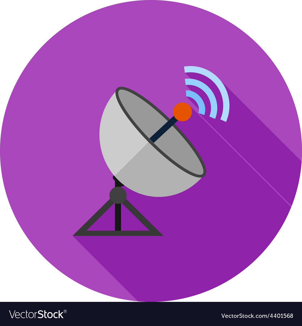 Satellite dish vector | Price: 1 Credit (USD $1)