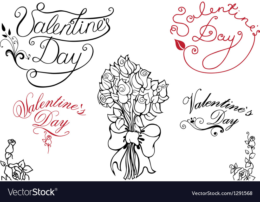 Valentine day elements vector | Price: 1 Credit (USD $1)