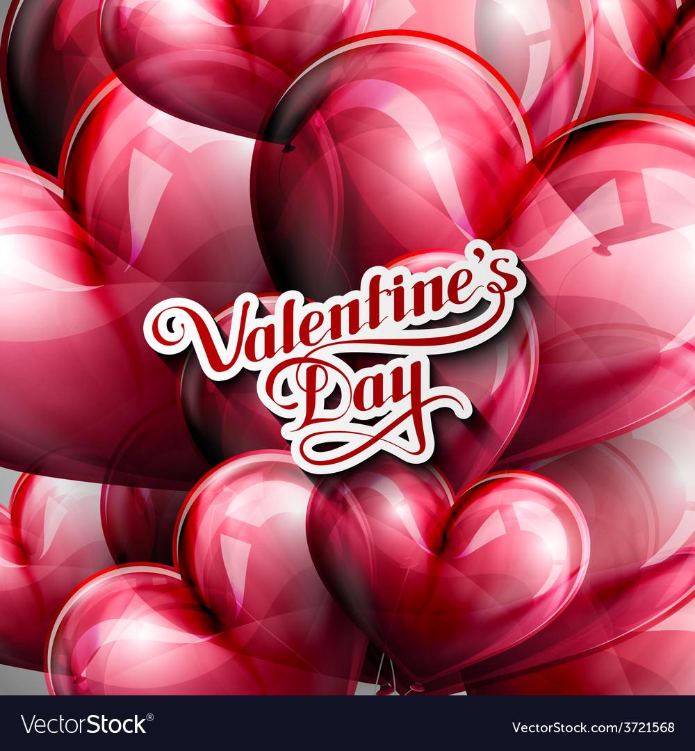Valentines day retro label vector | Price: 1 Credit (USD $1)