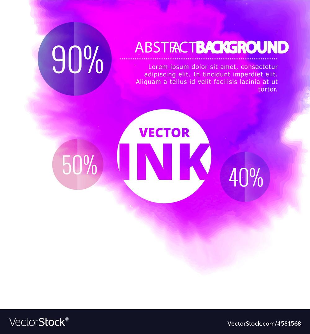 Water ink splash burst in purple color vector   Price: 1 Credit (USD $1)