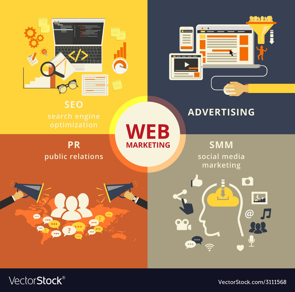 Web marketing vector | Price: 1 Credit (USD $1)