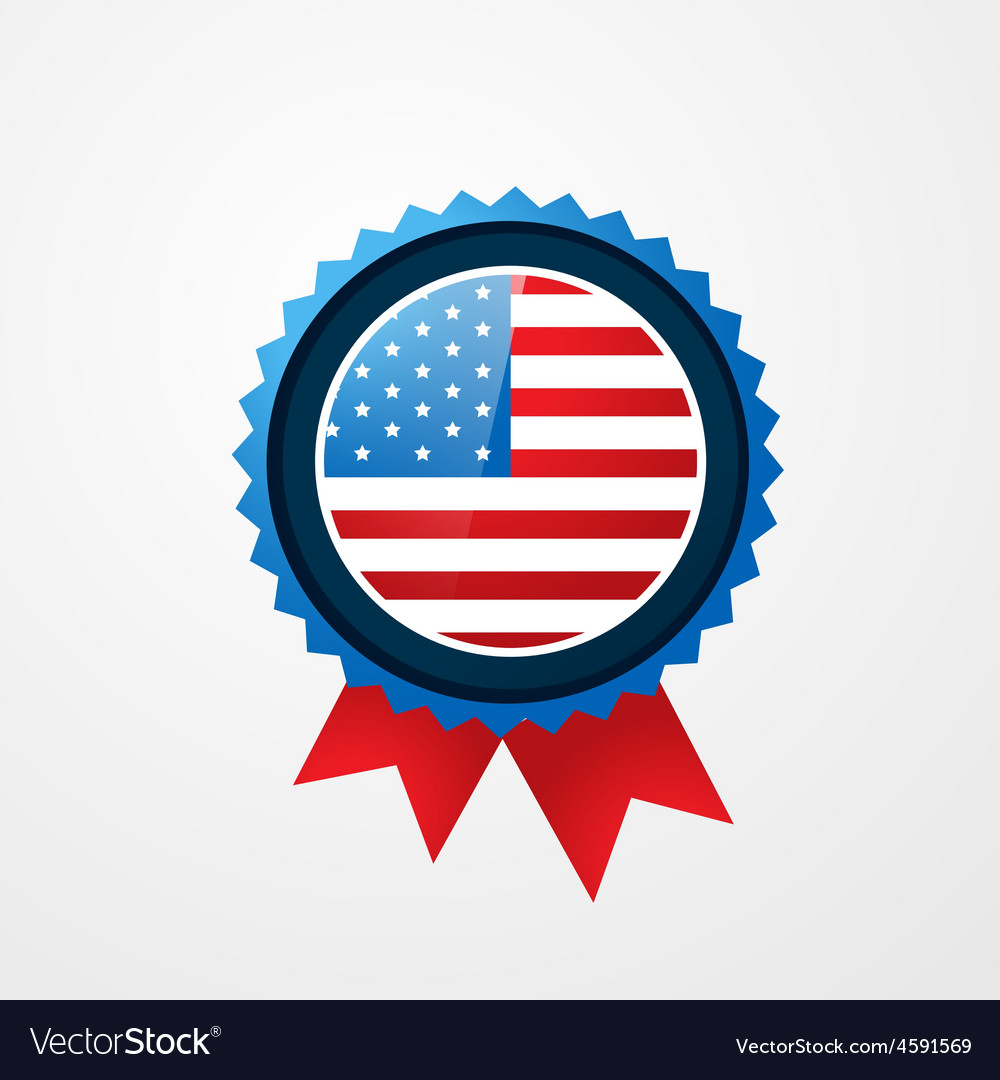 4th of july badge vector | Price: 1 Credit (USD $1)