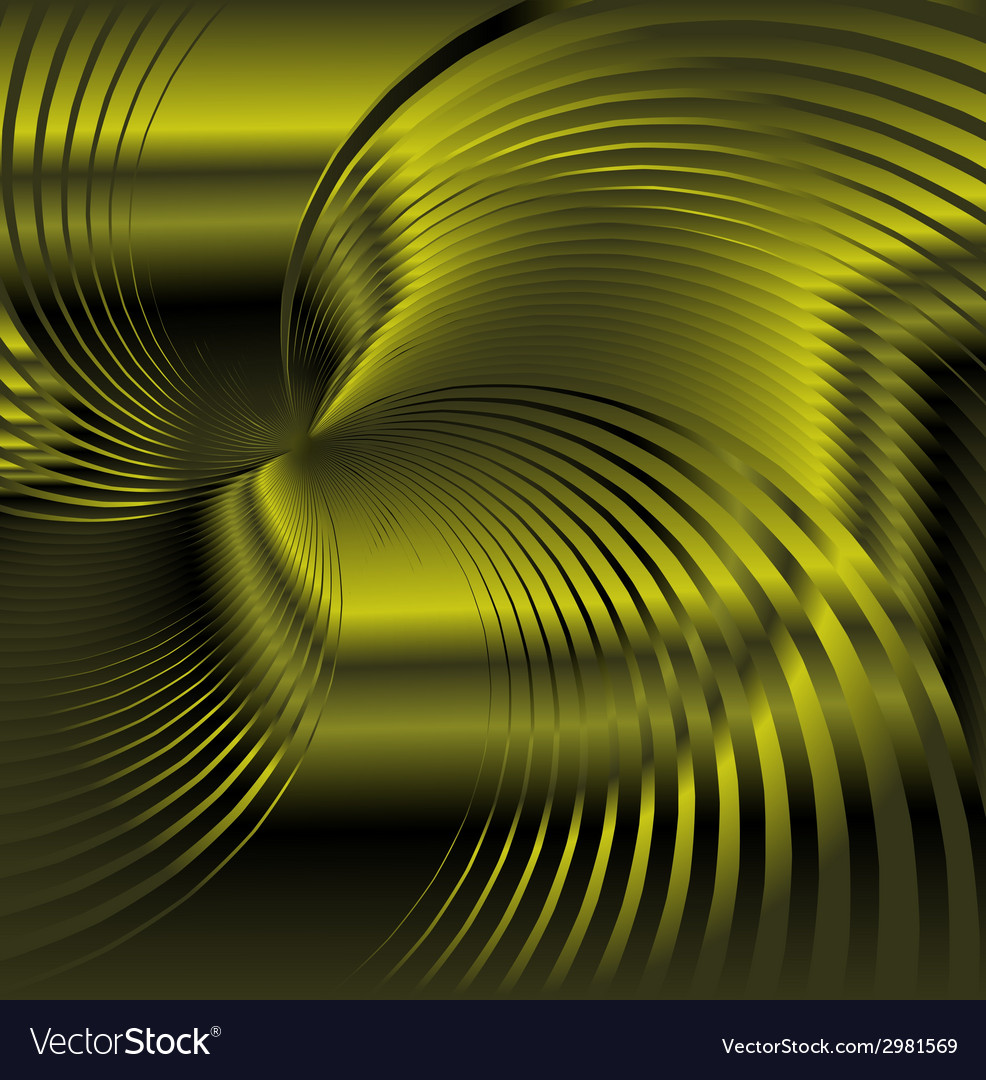 Abstract green metallic background with swirl vector