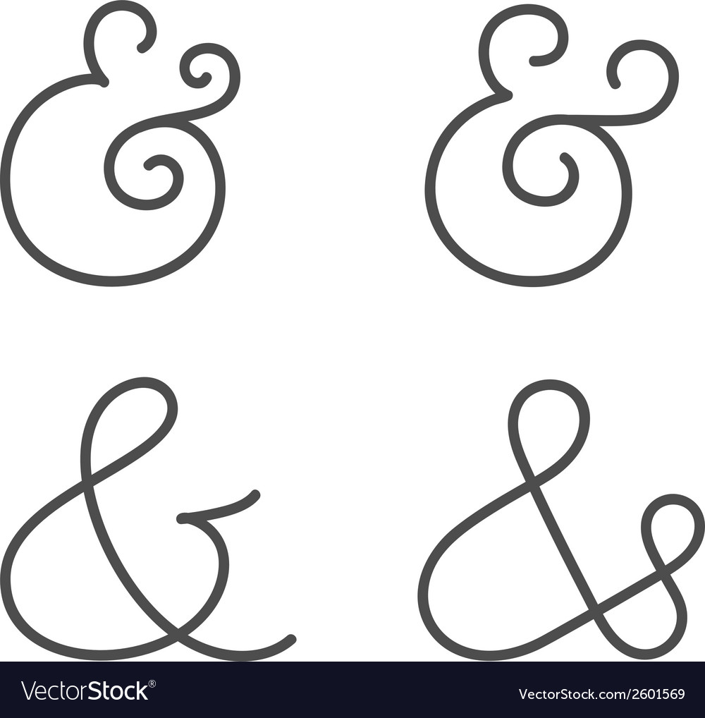Ampersand collection vector | Price: 1 Credit (USD $1)