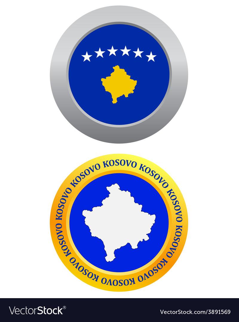 Button as a symbol kosovo vector   Price: 1 Credit (USD $1)