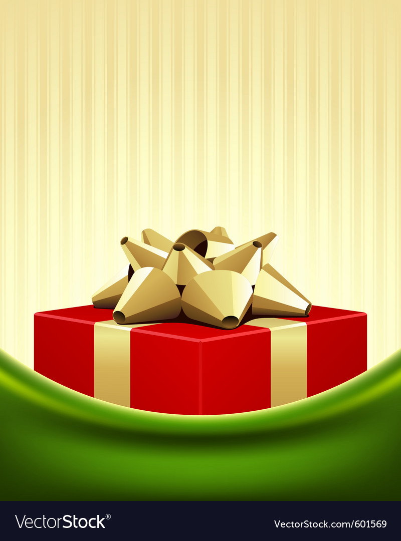 Christmas red box background vector | Price: 1 Credit (USD $1)