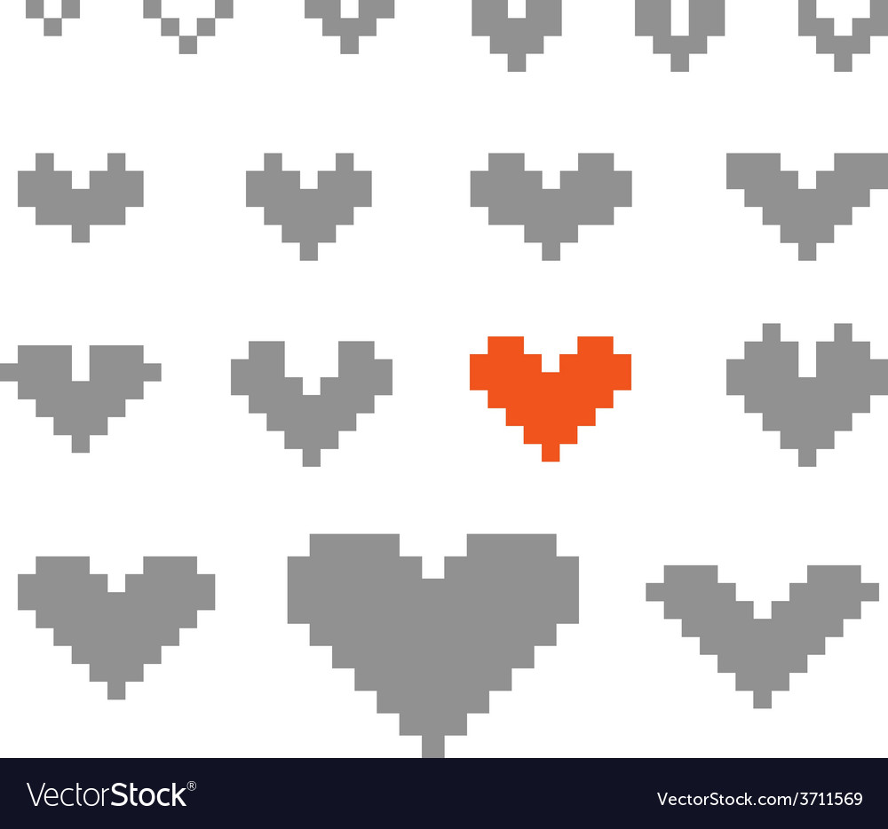 Different abstract heart icons collection vector | Price: 1 Credit (USD $1)