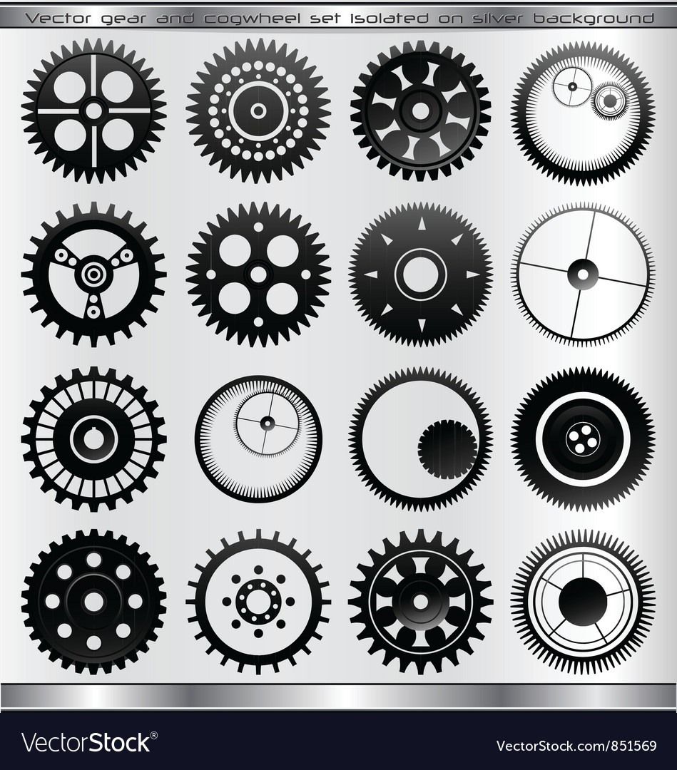 Gear and cogwheel set - isolated vector | Price: 1 Credit (USD $1)