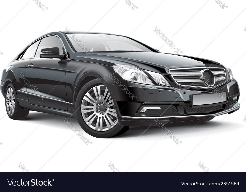 Germany compact executive car vector | Price: 3 Credit (USD $3)