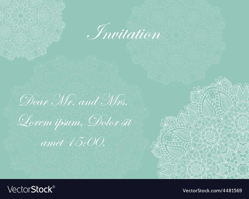 Invitation with victorian ornaments beautiful vector | Price: 1 Credit (USD $1)