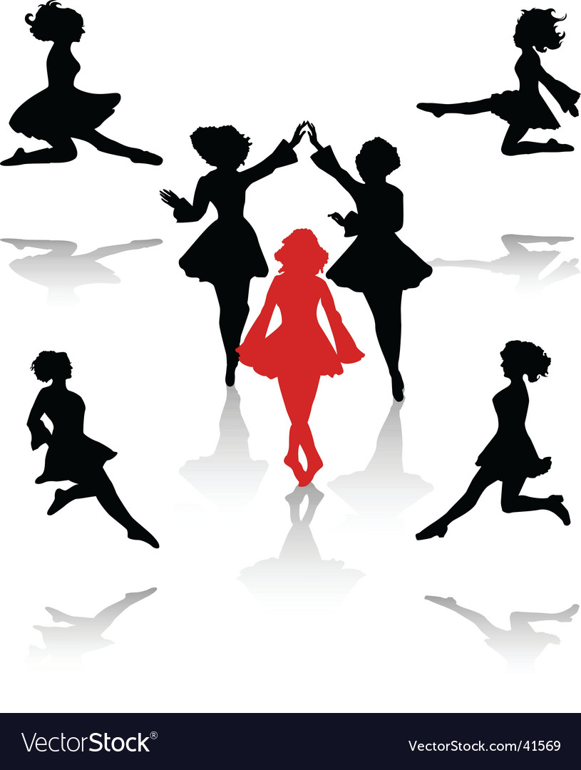 Irish dance vector | Price: 1 Credit (USD $1)