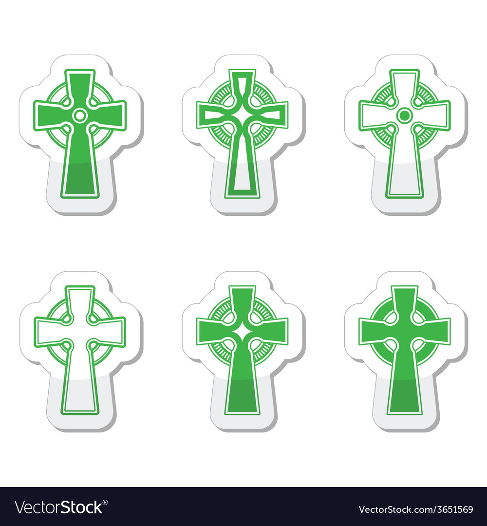 Irish scottish celtic cross sign vector | Price: 1 Credit (USD $1)