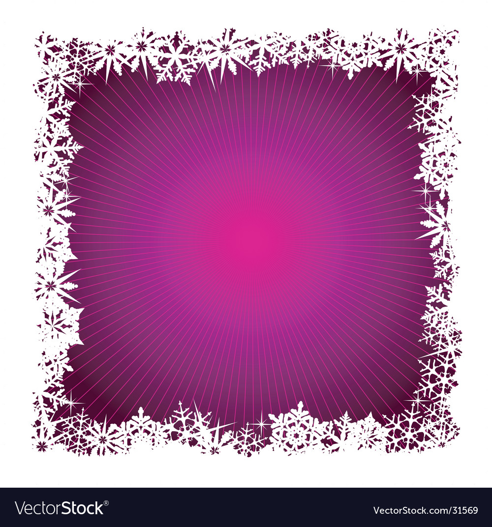 Square purple snowflake background vector | Price: 1 Credit (USD $1)