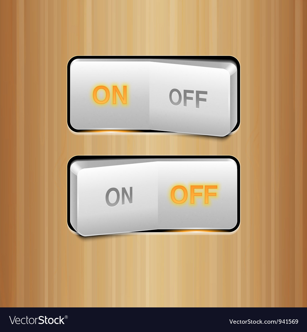 White realistic switch vector | Price: 3 Credit (USD $3)