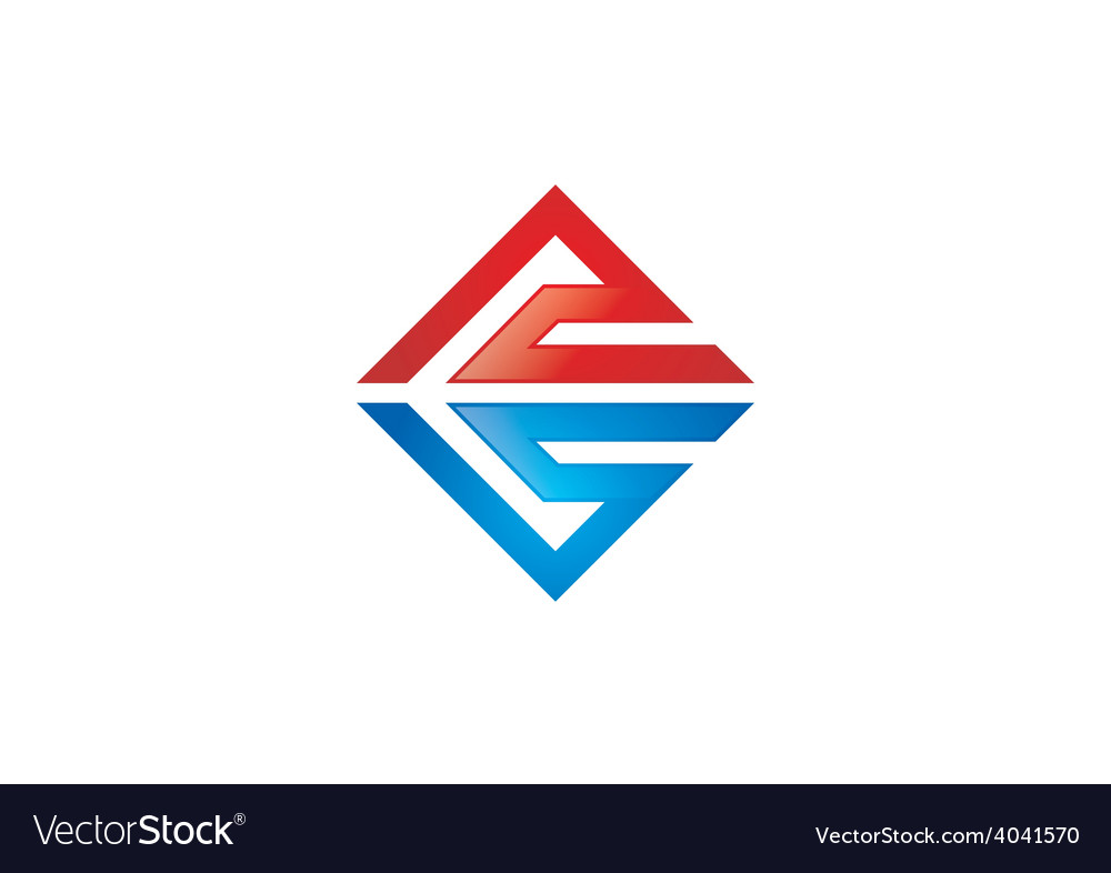 Abstract square geometry construction logo vector | Price: 1 Credit (USD $1)