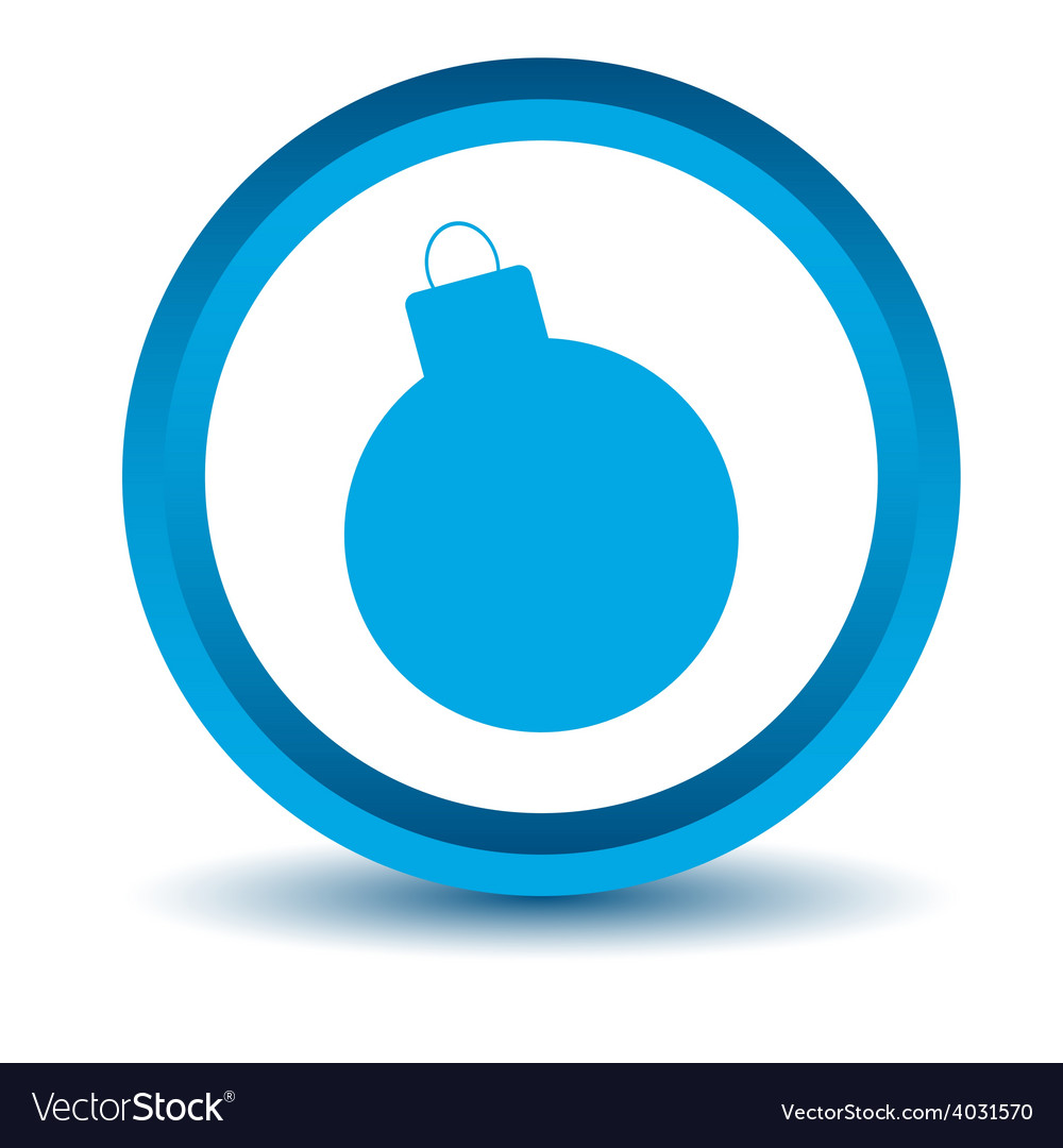 Blue bomb icon vector | Price: 1 Credit (USD $1)