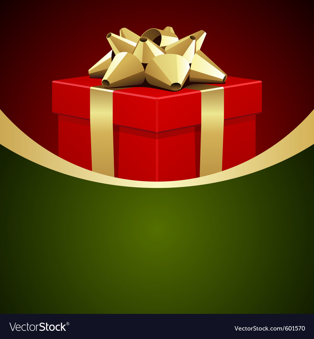 Christmas gift box background vector | Price: 1 Credit (USD $1)
