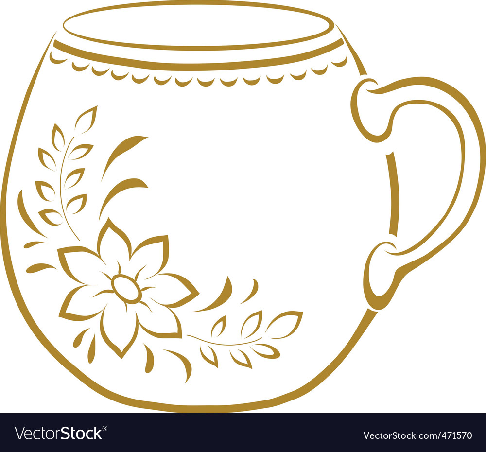 Cup with a pattern pictogram vector | Price: 1 Credit (USD $1)