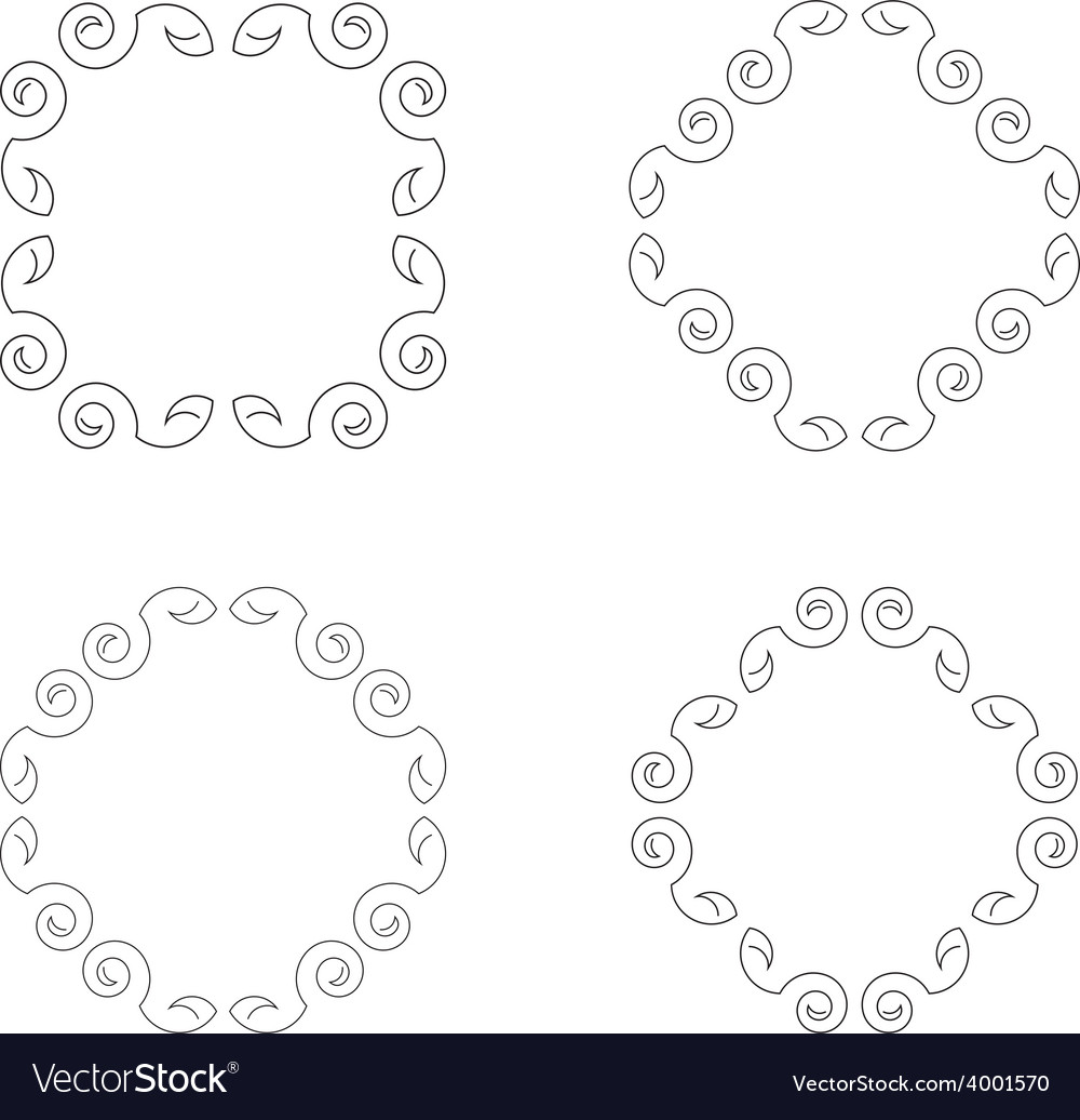 Decorative ornate frame border vector | Price: 1 Credit (USD $1)