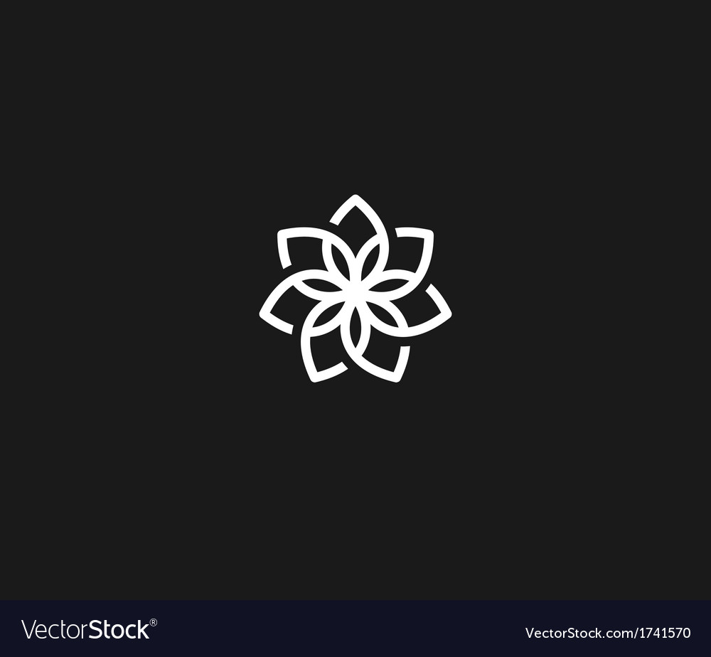 Flower symbol vector | Price: 1 Credit (USD $1)