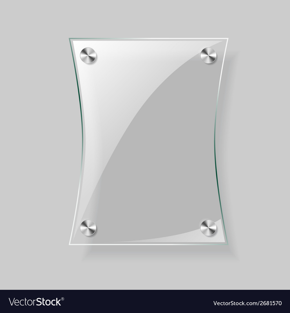 Glass rectangle plane vector | Price: 1 Credit (USD $1)