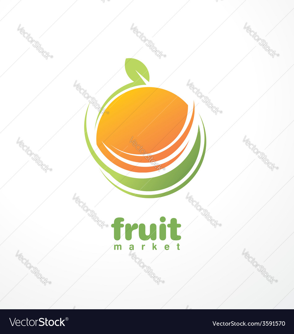 Healthy food logo design concept vector | Price: 1 Credit (USD $1)