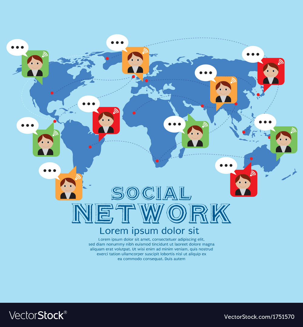 Social network vector | Price: 1 Credit (USD $1)