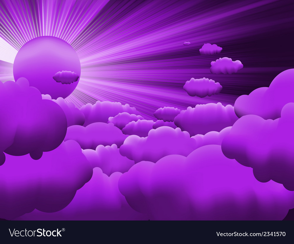 Sunburst sunset on cloud eps 8 vector | Price: 1 Credit (USD $1)