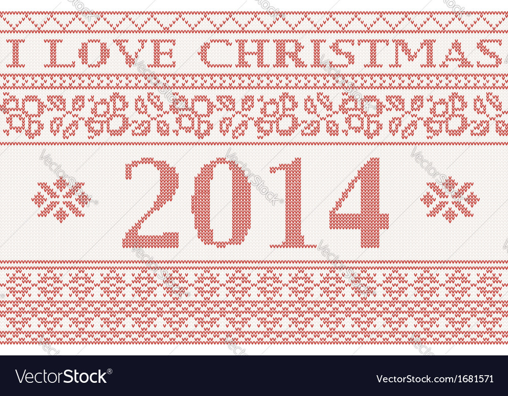 2014 big knitted background vector | Price: 1 Credit (USD $1)
