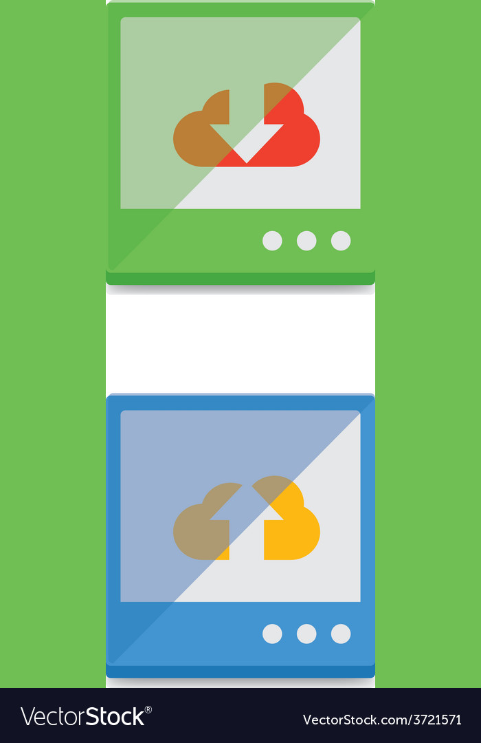 Cloud download and upload icon 4 vector | Price: 1 Credit (USD $1)