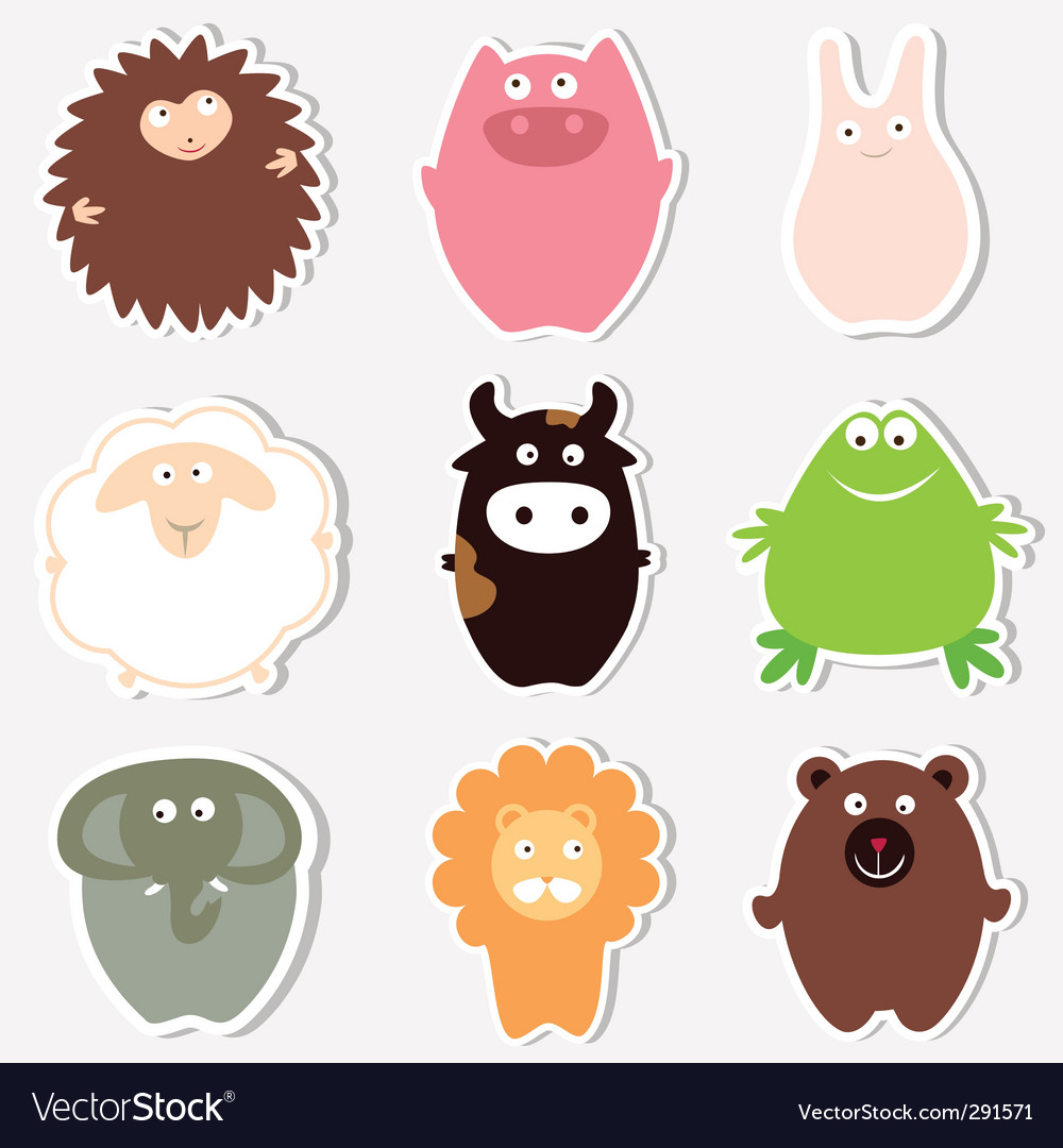 Cute animals vector | Price: 3 Credit (USD $3)