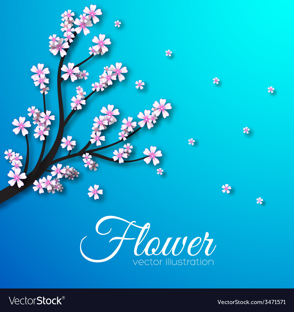 Floral branch background concept vector   Price: 1 Credit (USD $1)