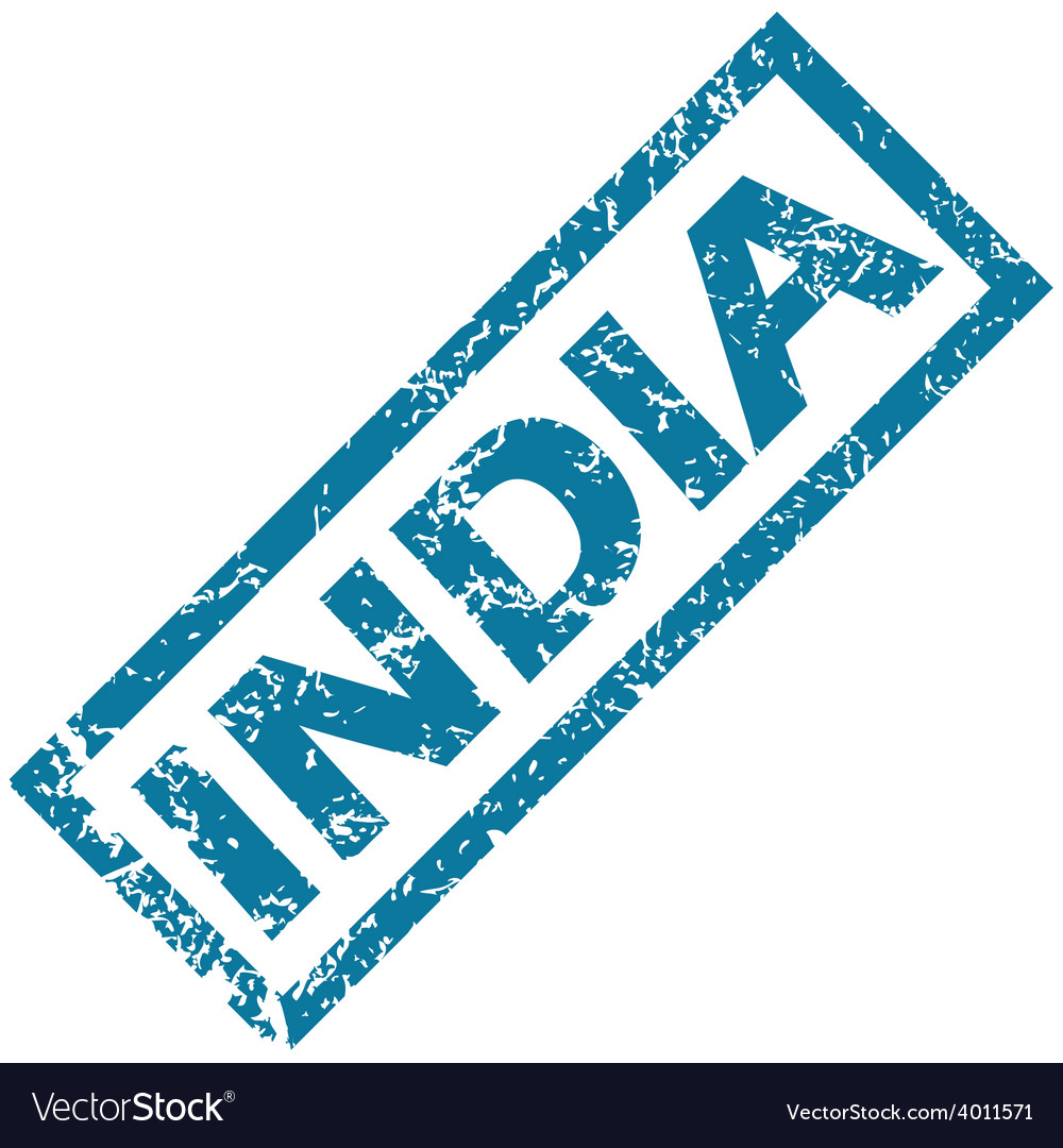 India rubber stamp vector | Price: 1 Credit (USD $1)