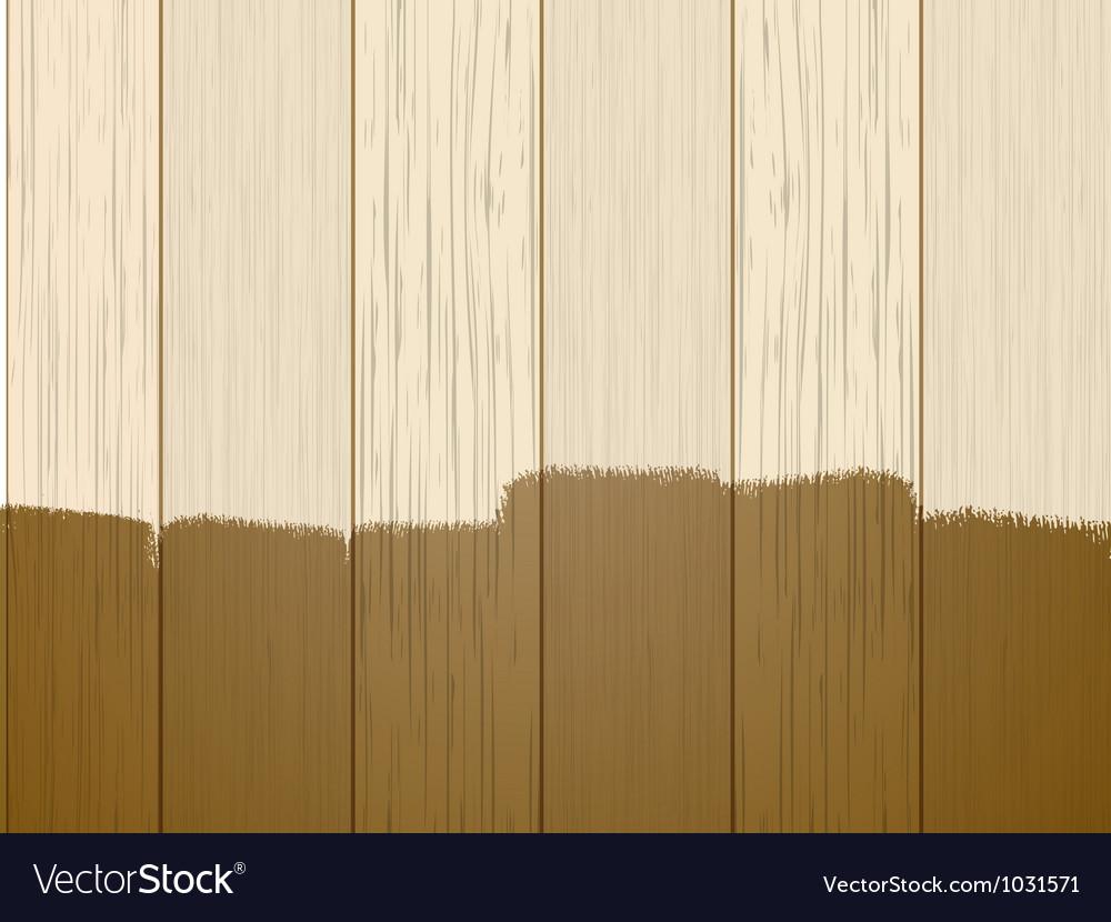 Part varnished wood vector