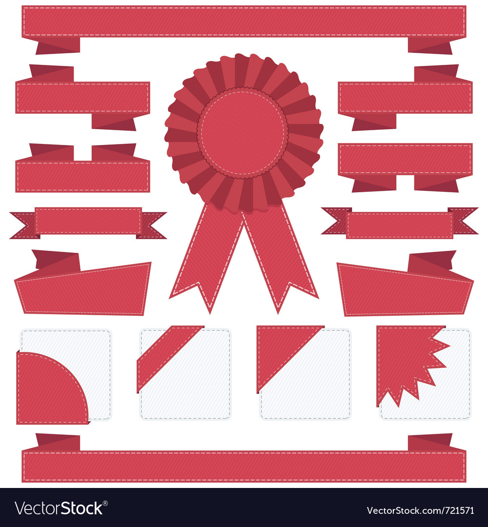Ribbon decorations vector | Price: 1 Credit (USD $1)