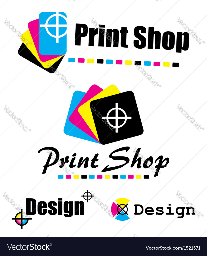 Set of cmyk designs vector | Price: 1 Credit (USD $1)