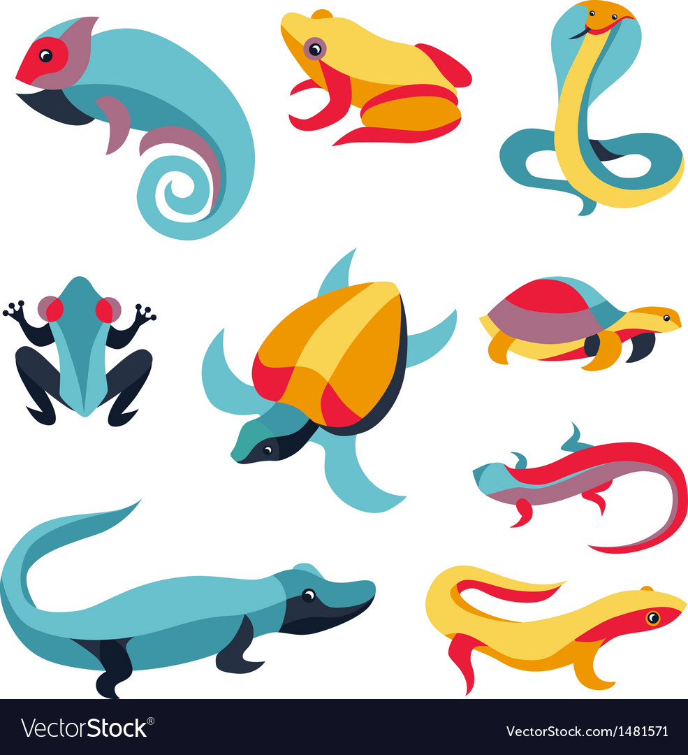 Set of logo design elements - reptiles vector | Price: 1 Credit (USD $1)