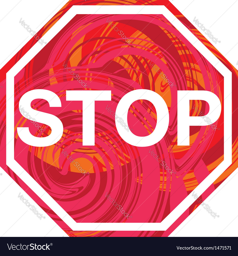 Stop symbol vector | Price: 1 Credit (USD $1)