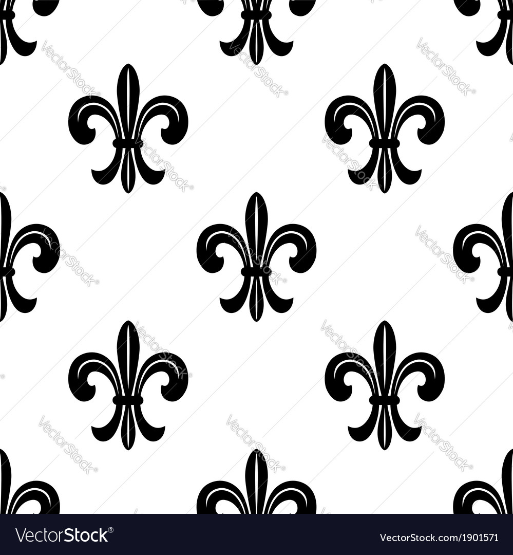 Stylized french fleur de lys seamless pattern vector | Price: 1 Credit (USD $1)