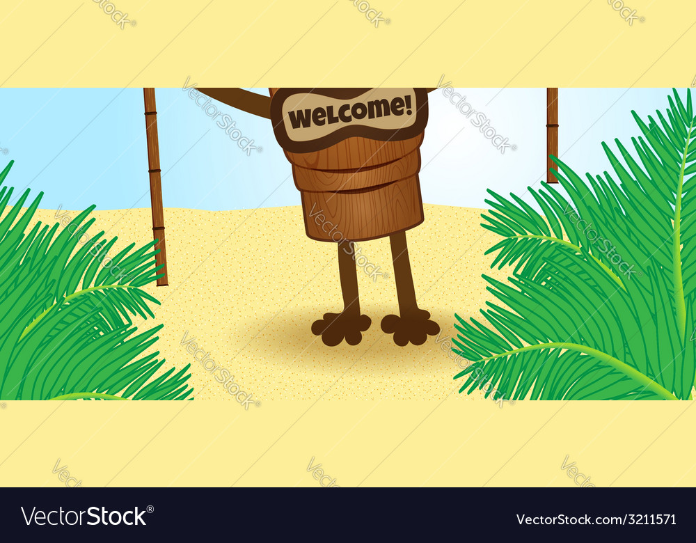 Tiki with legs2 vector | Price: 1 Credit (USD $1)