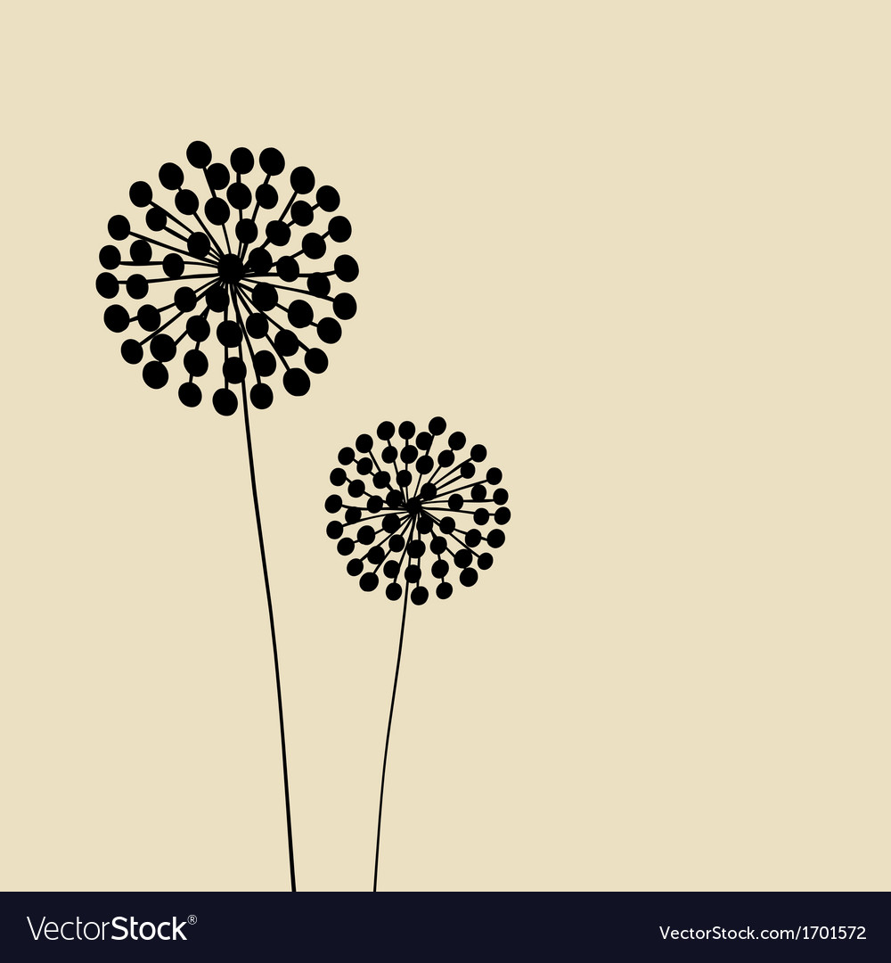 Abstract dandalions background vector | Price: 1 Credit (USD $1)